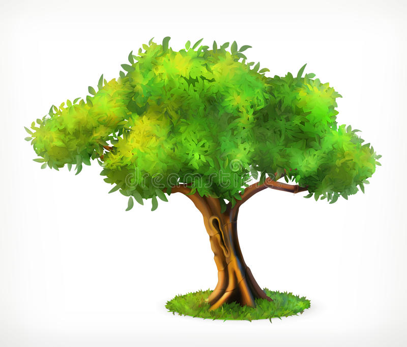 Green tree icon royalty free illustration