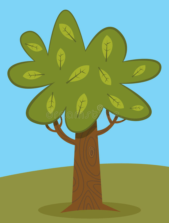 Download Green tree stock vector. Illustration of branch, leaf - 32875847