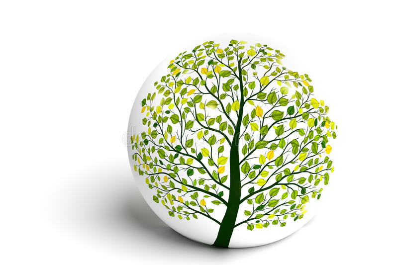 Download Green Tree Nature Background Stock Illustration - Image: 83713796
