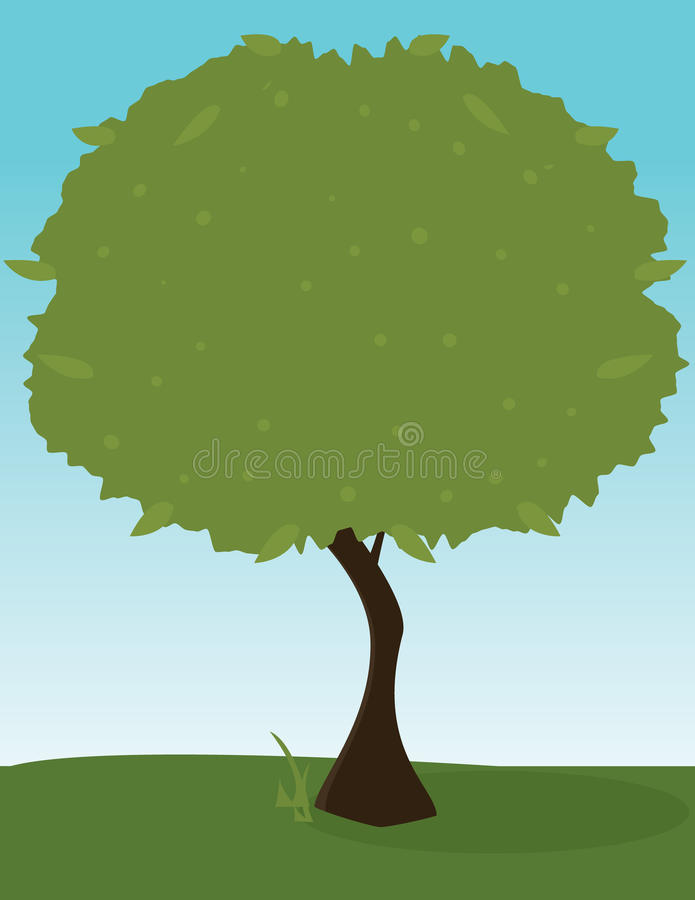 Green tree outdoors 1 stock illustration