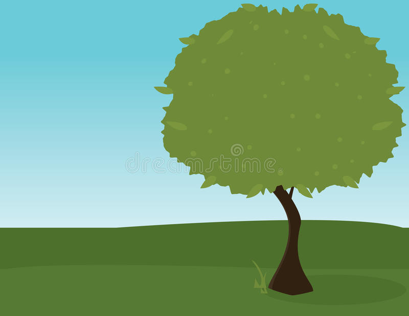 Green tree outdoors 2 vector illustration