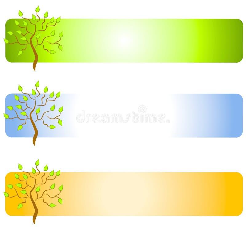 Green Tree Web Page Logos stock illustration
