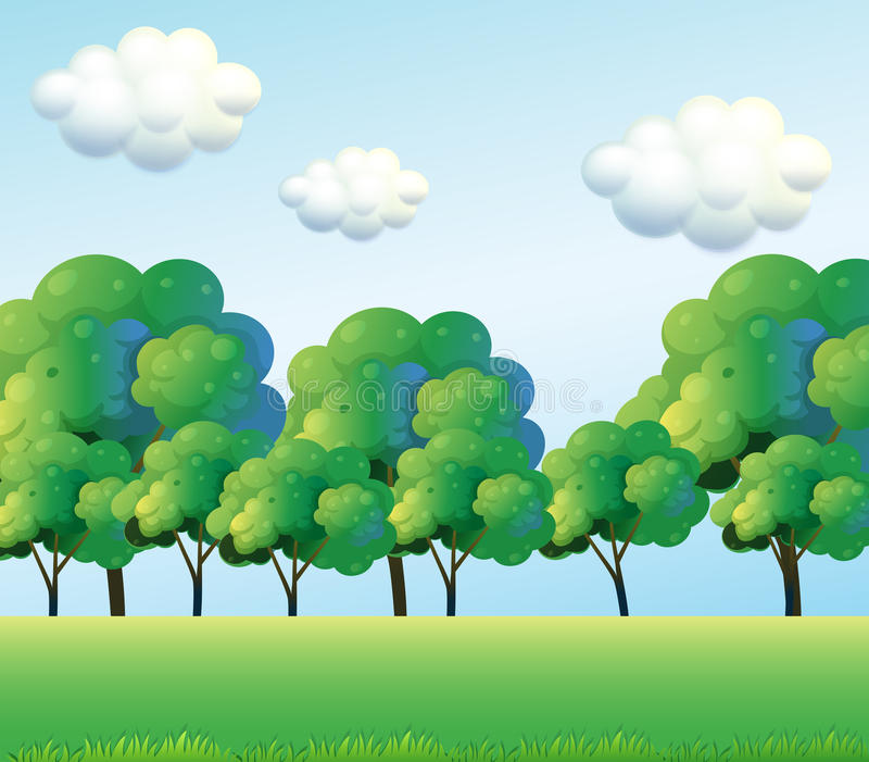 The green trees. Illustration of the green trees vector illustration