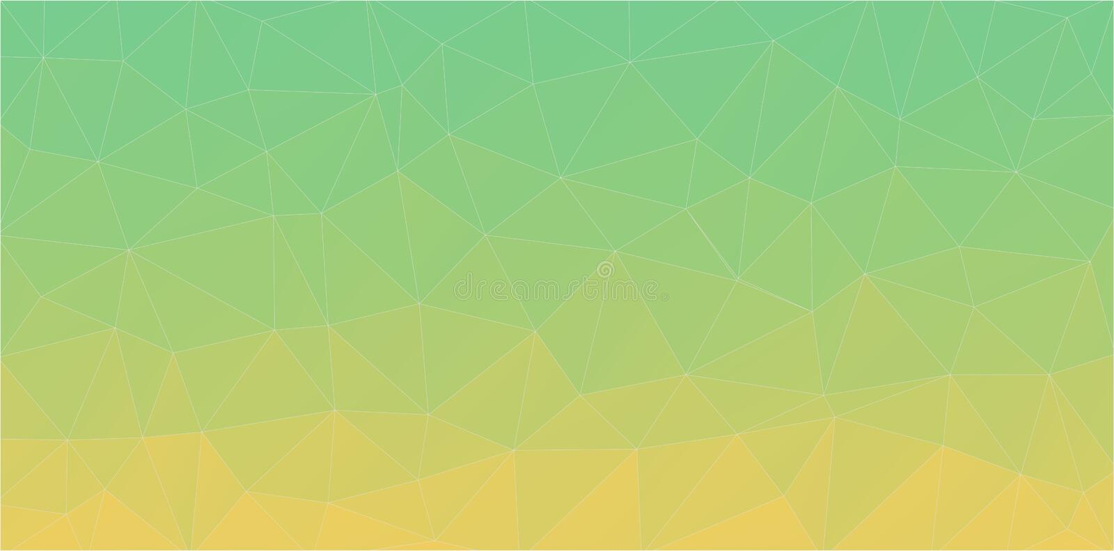 Green triangle background of geometric shapes. Art backgound for web. Abstract triangle shapes royalty free illustration