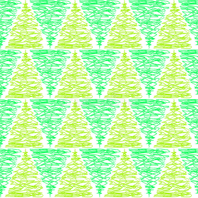 Green Triangle Trees Seamless Pattern stock illustration