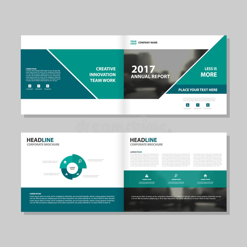 Green triangle Vector annual report Leaflet Brochure Flyer template design, book cover layout design. Abstract business presentation template, a4 size design royalty free illustration