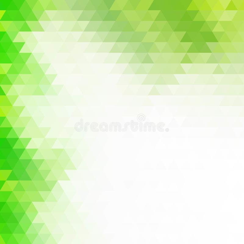 Green triangles. polygonal style. presentation template. eps 10. Green triangles. polygonal style presentation template, polyhedrons, science, medicine stock illustration