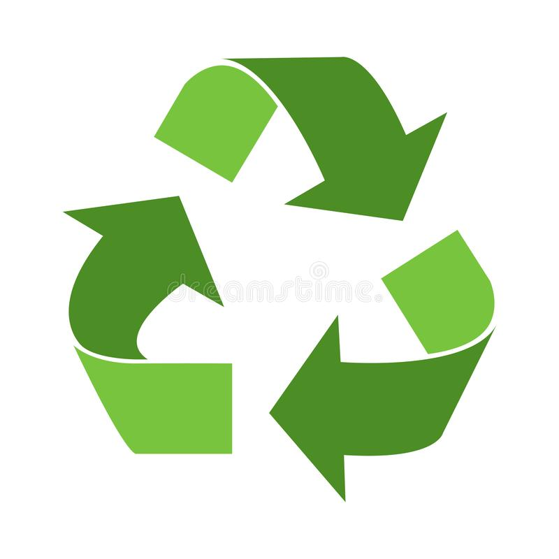 Green triangular eco. Recycle icons - vector royalty free illustration
