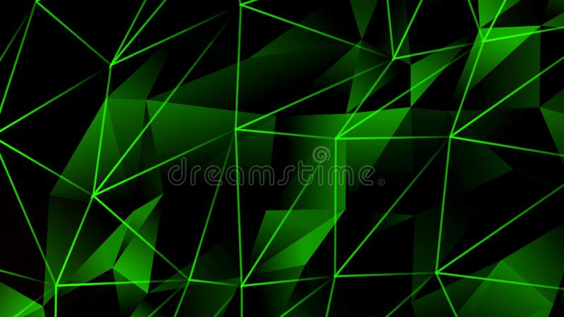 Green triangular shapes with connecting lines,futuristic technology background,science background. Professional background,can be used as desktop background vector illustration