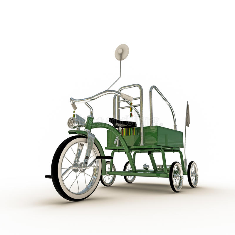 Download Green tricycle stock illustration. Image of childhood - 41901534