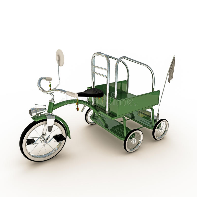 Download Green tricycle stock illustration. Image of vehicle, nostalgic - 41901818
