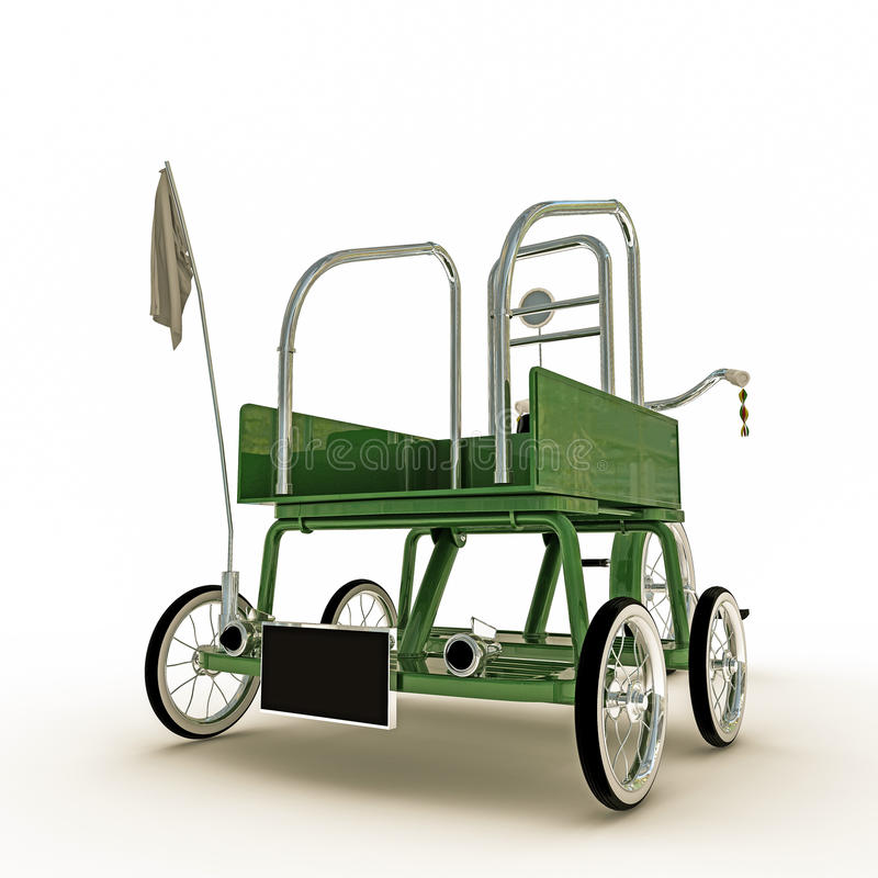 Download Green Tricycle Stock Illustration - Image: 41901879
