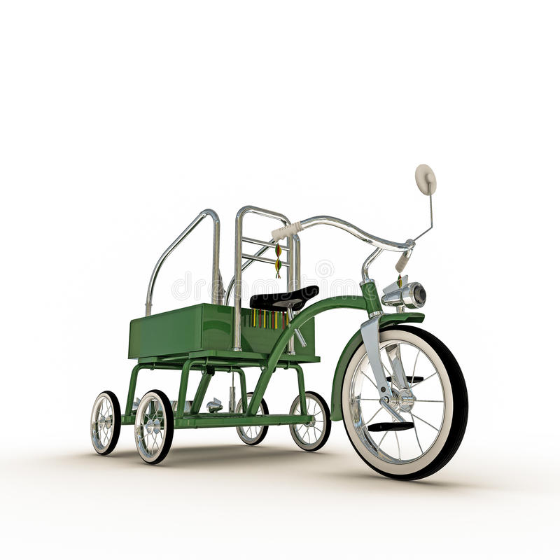 Green Tricycle Stock Illustration