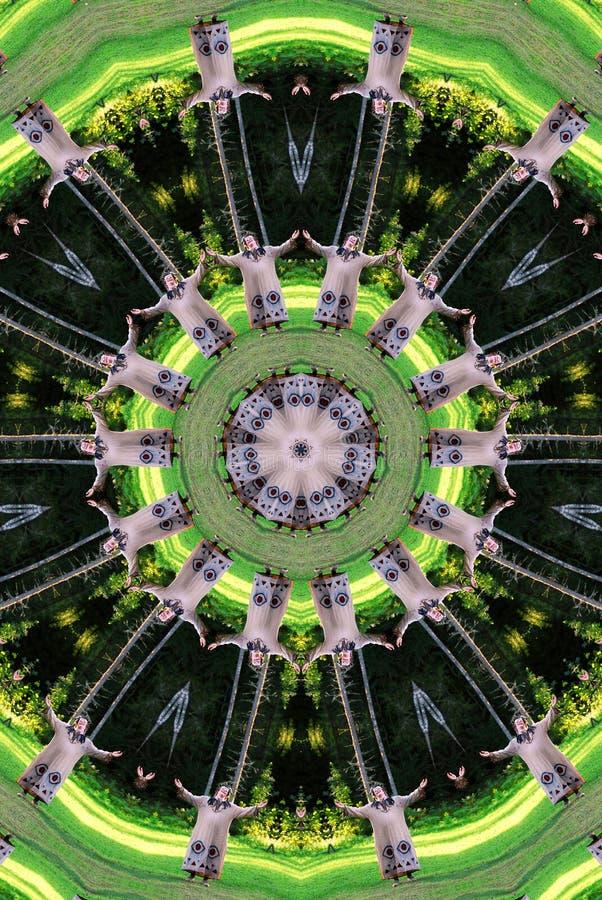 Green troll kaleidoscope stock photo