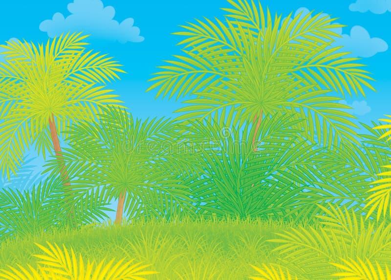 Green tropical jungle vector illustration