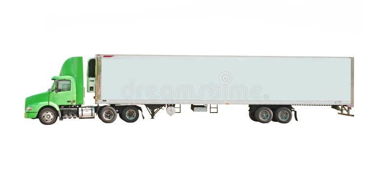 Green truck royalty free stock photos