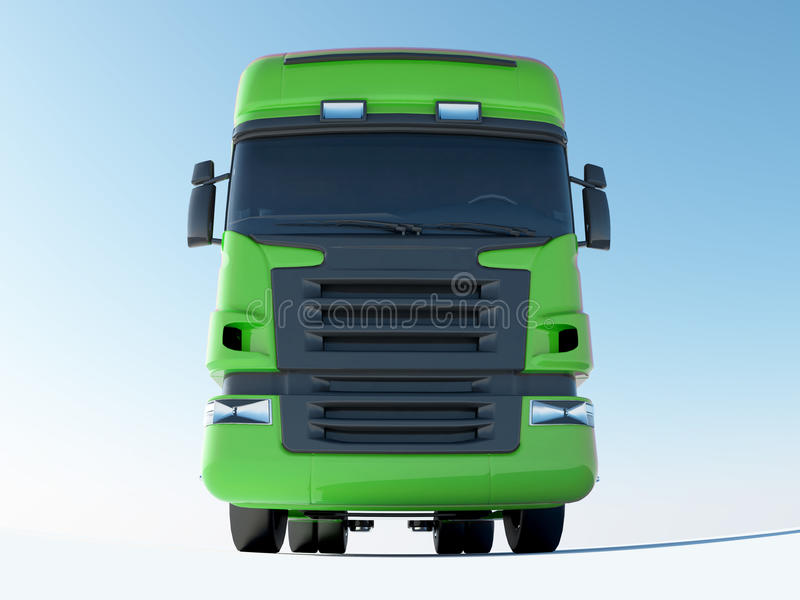Green truck front view royalty free illustration