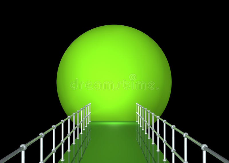 Download Green Tunnel With Railing Stock Images - Image: 14537924