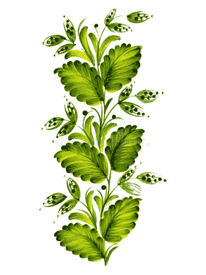 Download Green twig stock vector. Image of painted, beautiful - 31523283