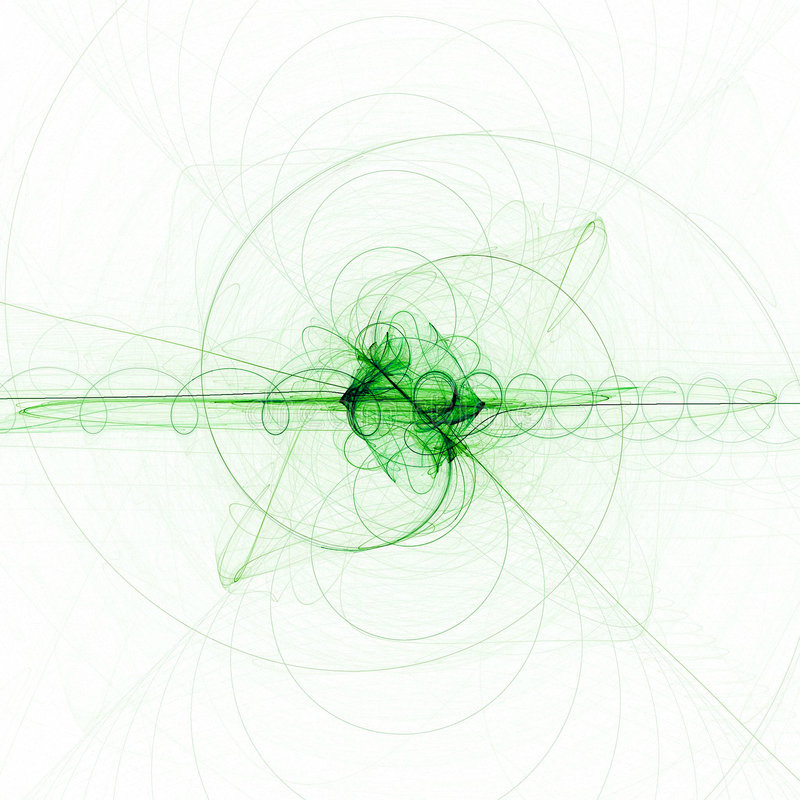 Green twirl. Abstract pattern stock illustration