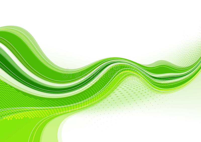 Green twisting tape vector illustration