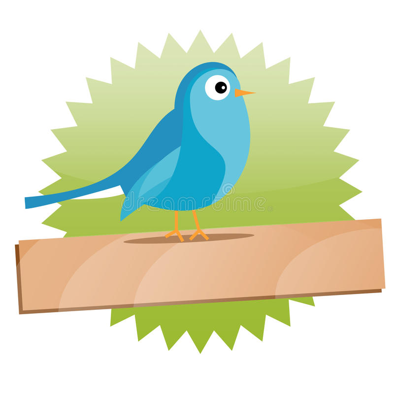 Green Twitter sign with space for text vector illustration