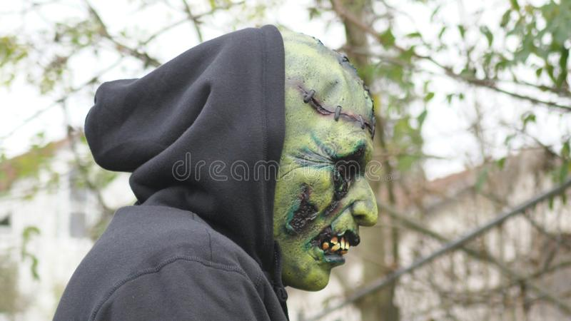 Green ugly Monster royalty free stock photos