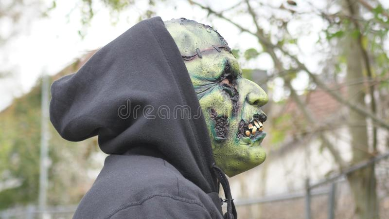 Green ugly Monster royalty free stock photo