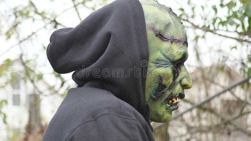 Green ugly Monster stock photo