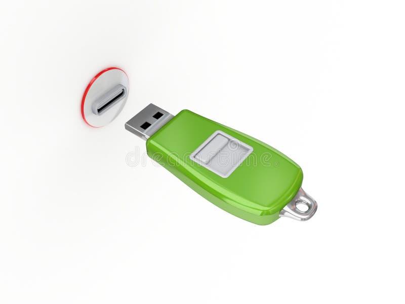 Download Green usb flash memory. stock illustration. Image of modern - 23277571