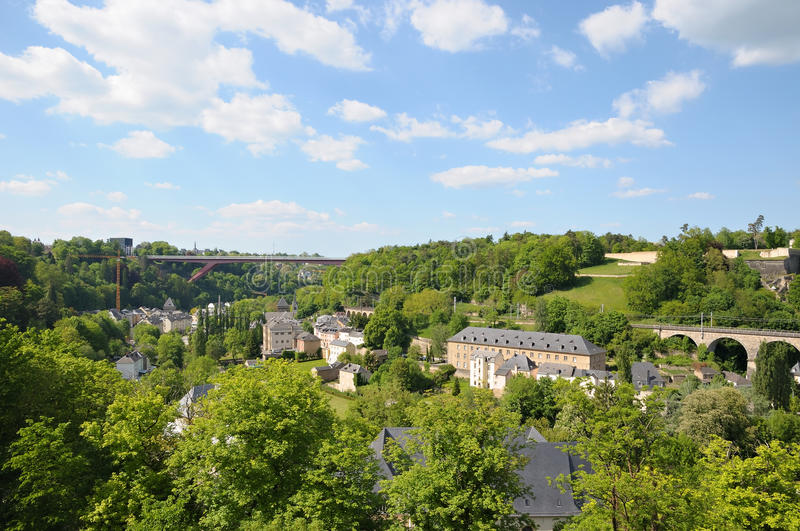 Download Bridge in Luxembourg stock image. Image of nature, mist - 30149843