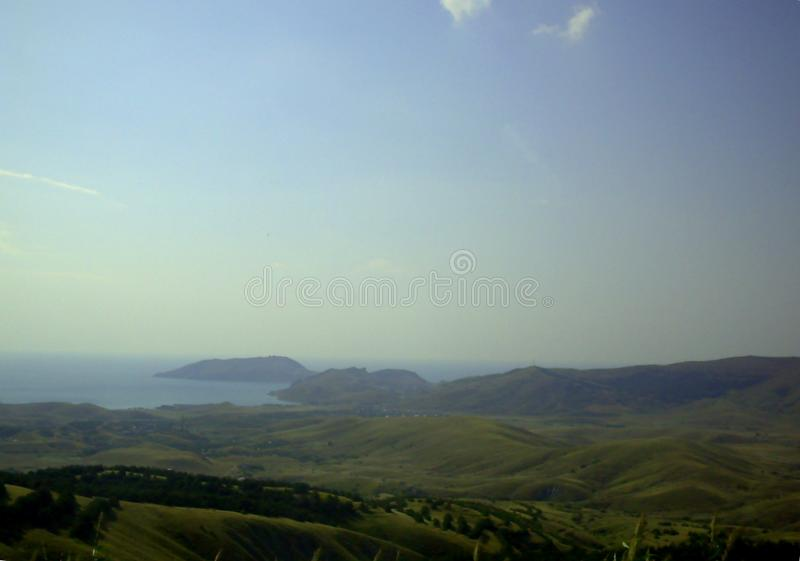 Green valley in the Crimea royalty free stock photography