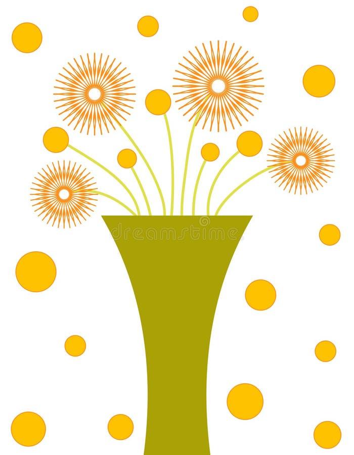 Green vase vector illustration