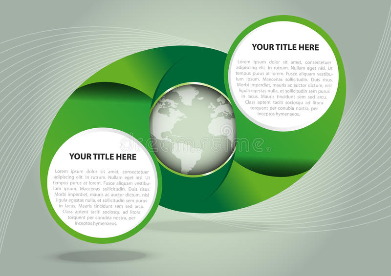 Green vector abstract background with globe vector illustration