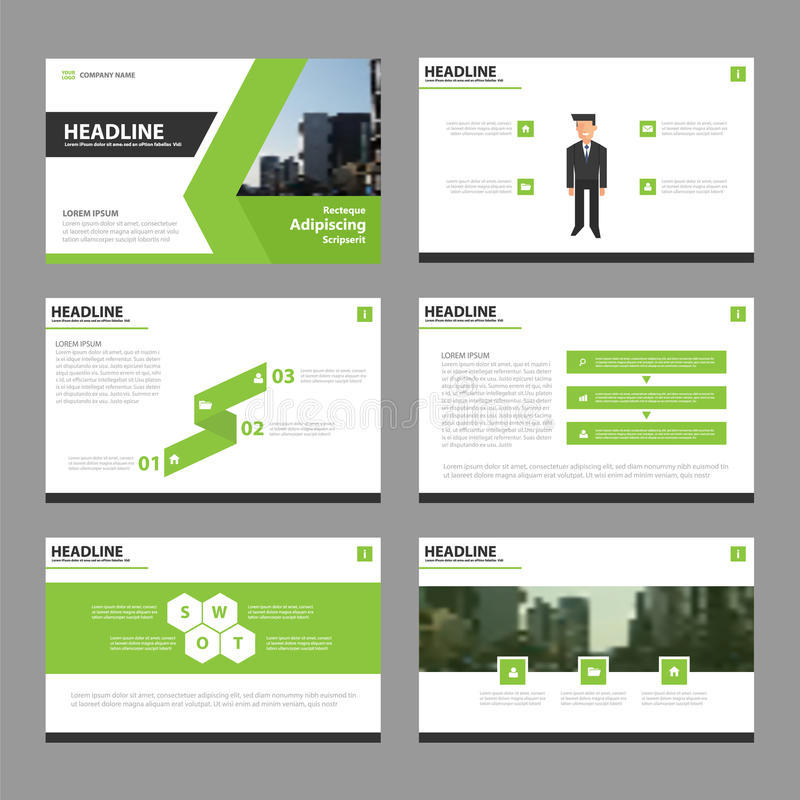 Green Vector annual report Leaflet Brochure Flyer template design, book cover layout design, Abstract green presentation templates royalty free illustration