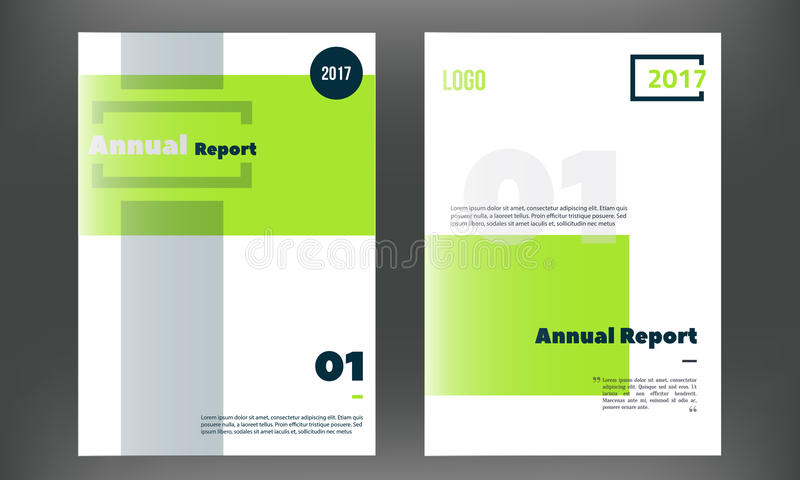 green vector brochure cover template  business annual report design clean flyer  professional