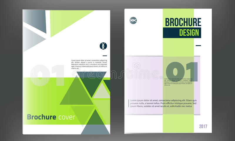 Green Vector Brochure Cover Template. Business Annual Report