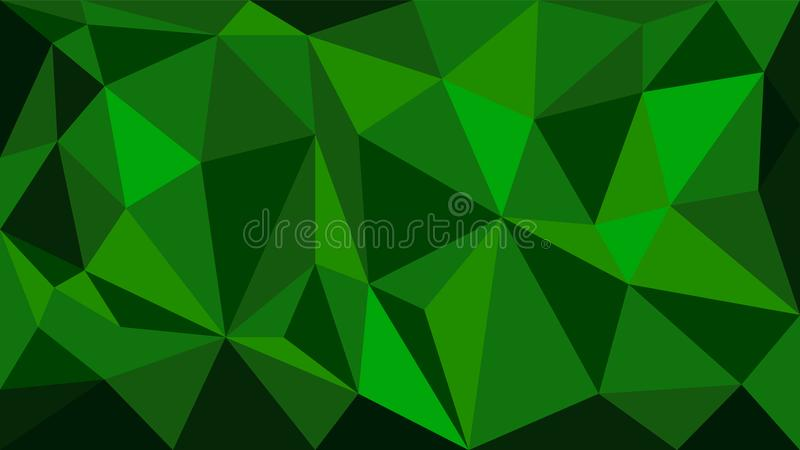 Green vector polygonal geometric pattern background made of trianle shapes. Polygon design graphic elements stock illustration