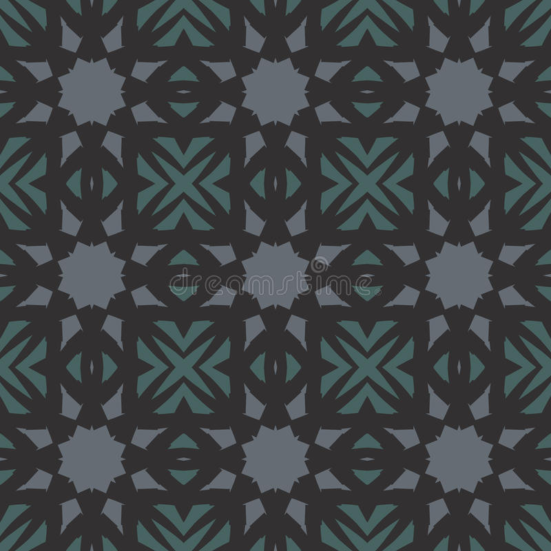 Green vector seamless patterns, tiling. Geometric ornaments. stock photography