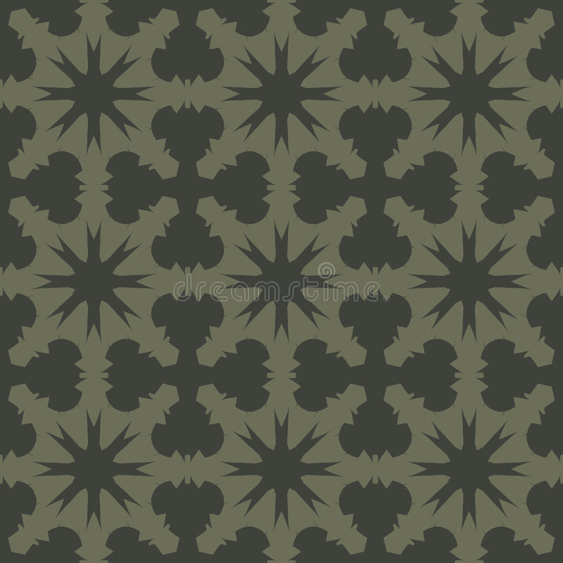 Green vector seamless patterns, tiling. Geometric ornaments. royalty free stock photography