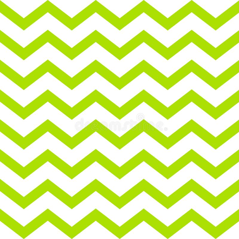 Green vector seamless zigzag pattern on white background royalty free stock photography