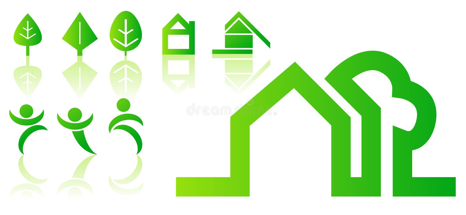 Green vector symbols stock illustration