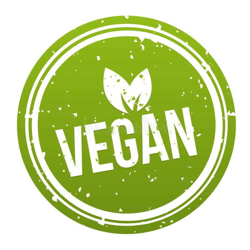 Green Vegan Badge - Vegan Button. royalty free illustration