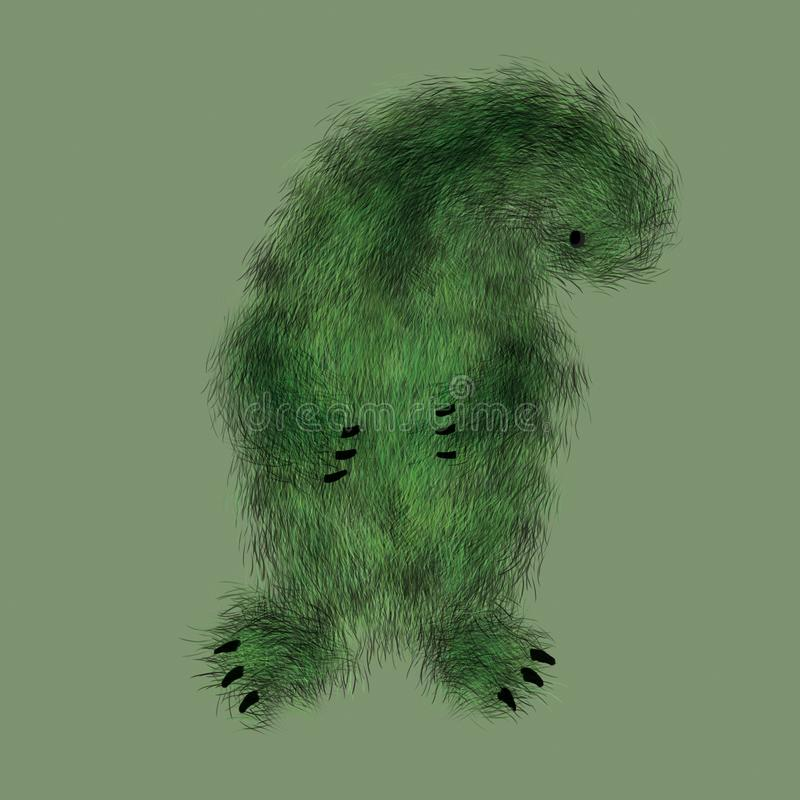 Green plant monster royalty free stock images
