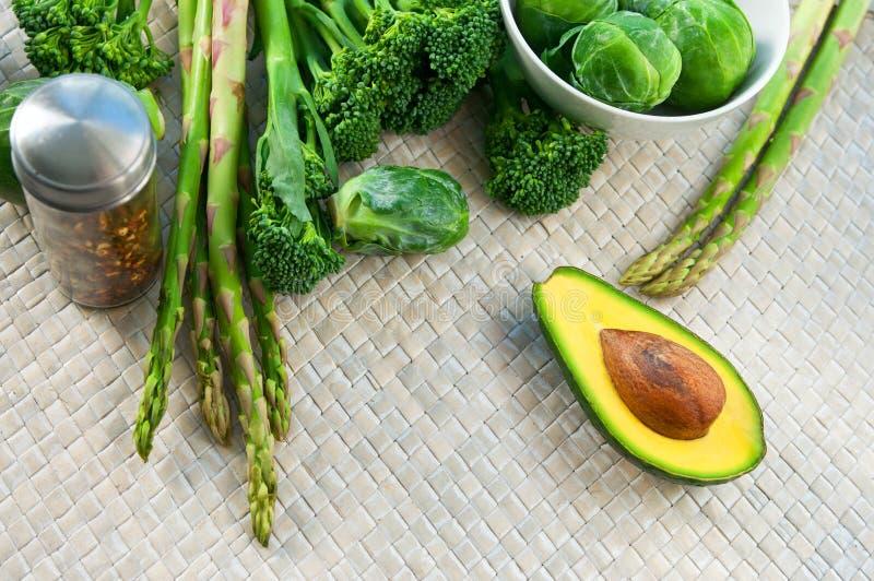 Green vegetables stock image