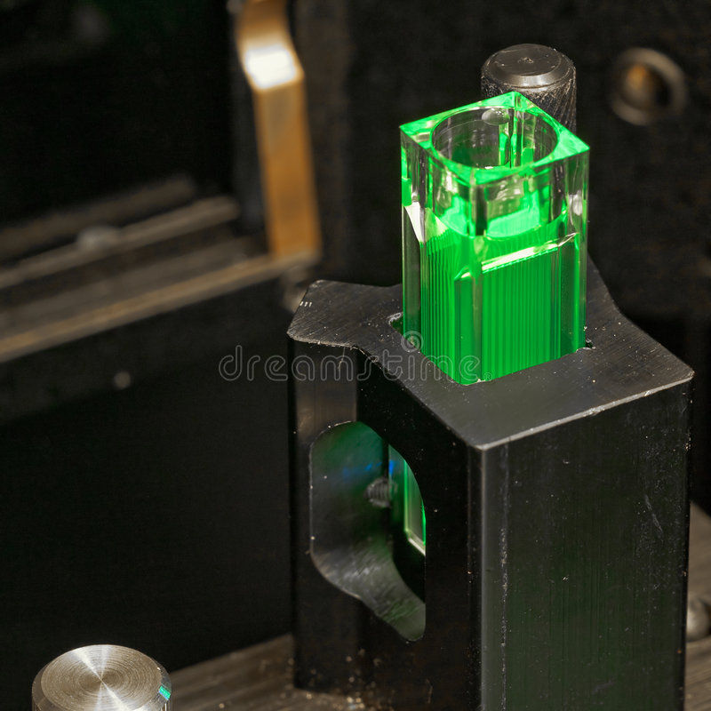 Green vial royalty free stock photography