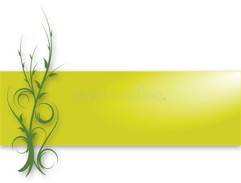 Download Green Vine Banner stock illustration. Illustration of leaves - 15697769