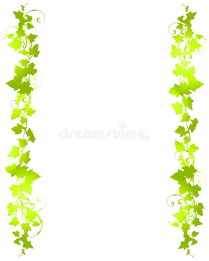 Free Green Vine Leaf Background Borders Royalty Free Stock Photos - 3996908