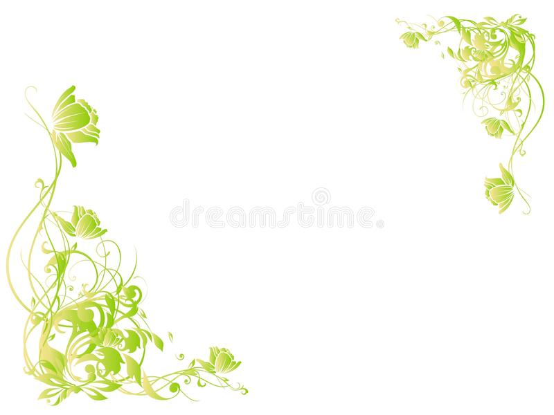 Green vines vector illustration