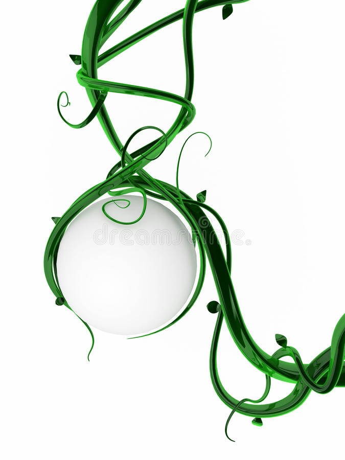 Download Green Vines, Sphere stock illustration. Image of holding - 11689138